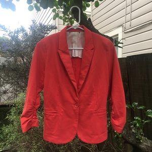 Pink blazer jacket with stylish 3/4 sleeves S